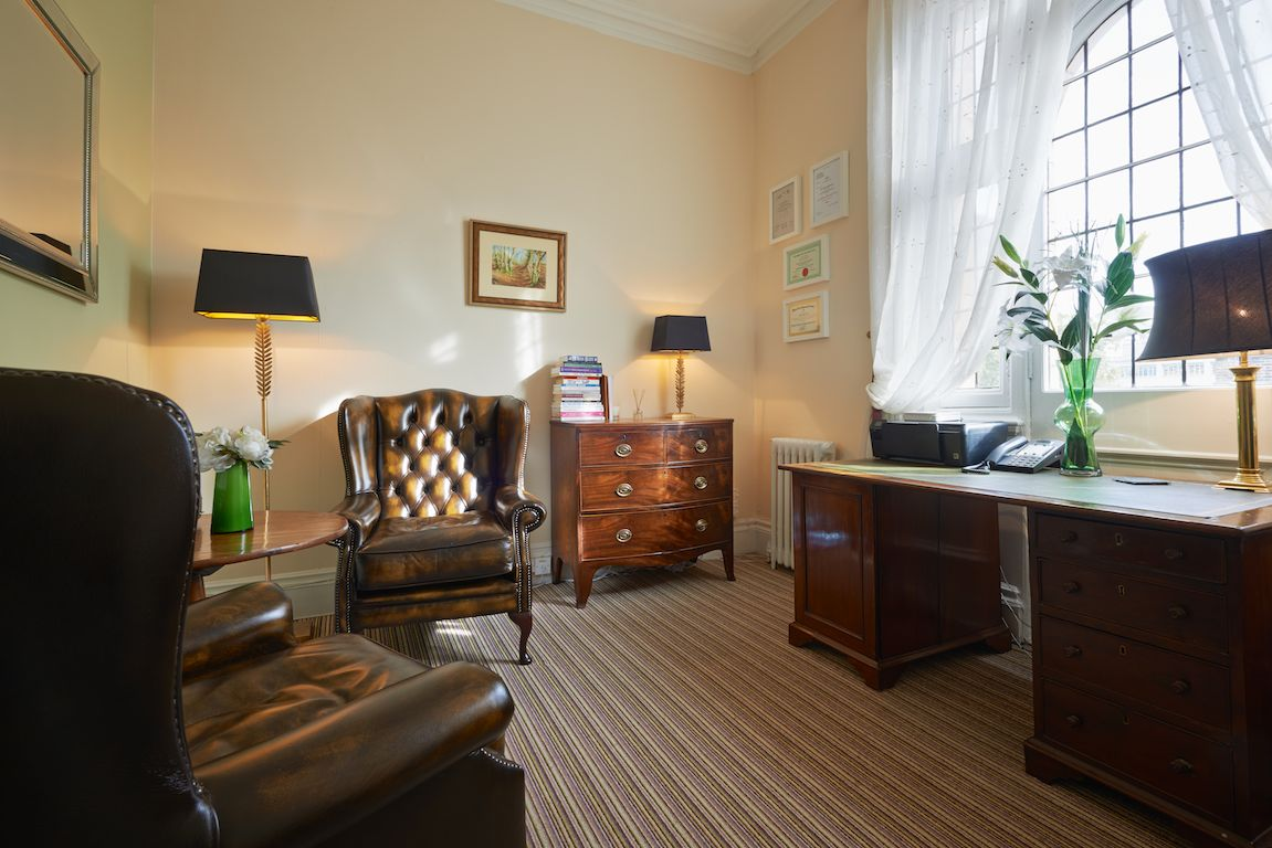 Beautiful Therapy Room with Bonita Rayner-Jones, London Hypnotherapist